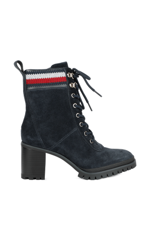 Classic High Heel Boots in Blue TOMMY HILFIGER