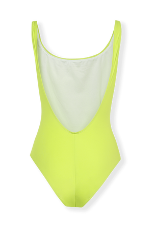 Logo One Piece Swimsuit In Lime Green ARMANI EXCHANGE