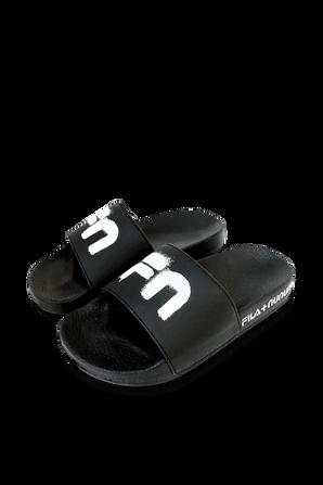 Fila x Nununu 23-27 Slide Sandals in Black FILA NUNUNU