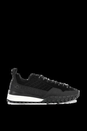 נעלי סניקרס עם לוגו בצבע שחור DSQUARED2