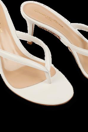 Calypso Heels in White GIANVITO ROSSI