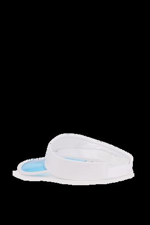 Logo Visor Hat In White And Blue ARMANI EXCHANGE