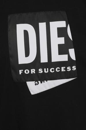 Folded Logo T-Shirt in Black DIESEL