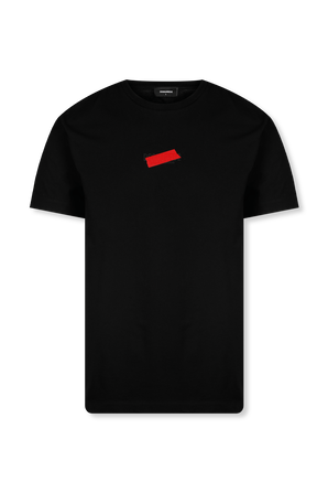 Tactile Logo T-Shirt in Black DSQUARED2