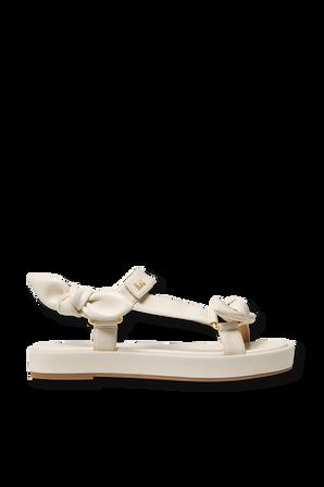 Phoebe Sandals in White MICHAEL KORS