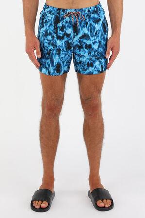 Ripple Print Drawcord Swim Shorts in Blue BURBERRY