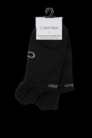 2 Pack Black Performance Grip Liner Socks CALVIN KLEIN