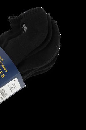 Cotton Embro Ankle Black Socks POLO RALPH LAUREN