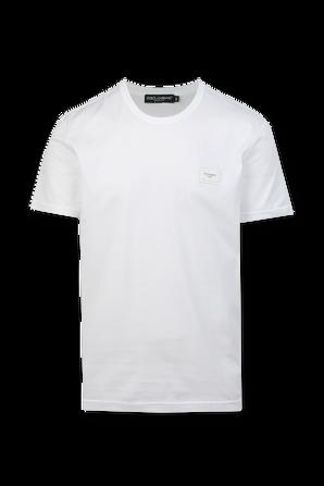 Logo Patch T-Shirt in White DOLCE & GABBANA