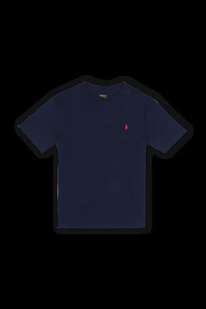 גילאי 8-16 חולצת לוגו טי בגוון כחול POLO RALPH LAUREN KIDS