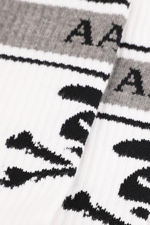 Logo Socks in White AAPE