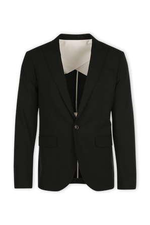Black Tropical Weight Stretch Worsted Wool Tokyo Suit DSQUARED2