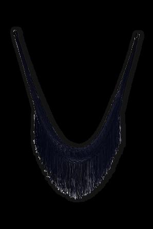 Crochet Hammock with Fringe in Black COQUI COQUI