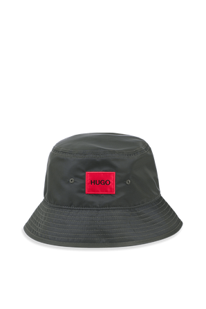 Logo Bucket Hat in Dark Green HUGO