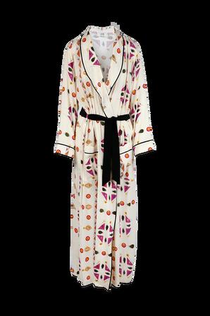 Robe Dress in Pressed Botanical Cream Print VICTORIA BY VICTORIA BECKHAM