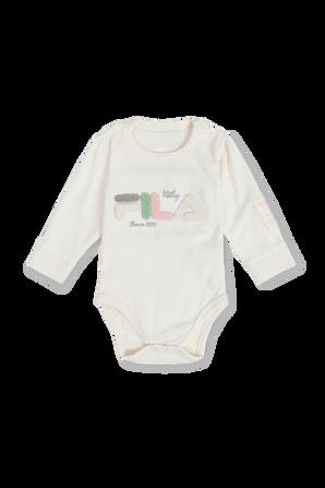 גילאי NB- 12 חודשים סט בגד גוף ומכנסיים בצבע לבן FILA