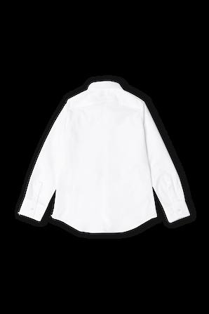 גילאי 4-16 חולצת פולו מכופתרת קלאסית בלבן DSQUARED2 KIDS