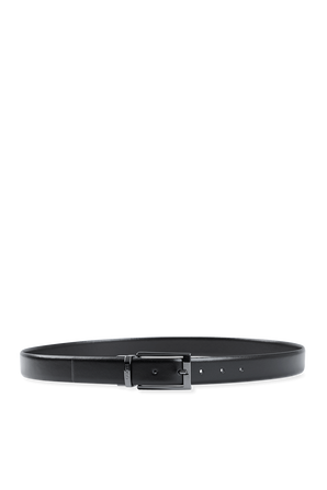 Leather Belt in Black HUGO