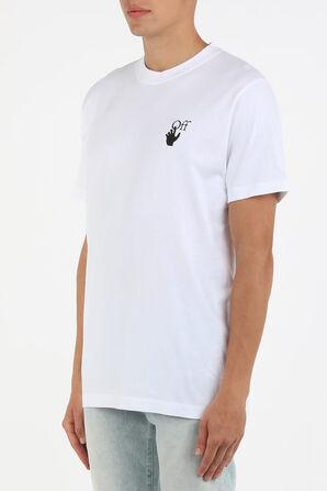 חולצת טי לוגו בצבע לבן OFF WHITE