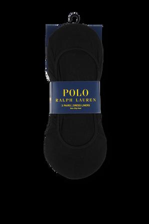 No Show Liner 3-Pack in Black POLO RALPH LAUREN