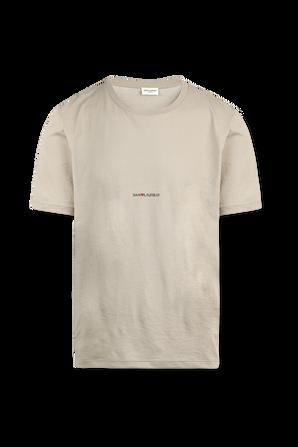 Tiny Logo T-Shirt in Sand SAINT LAURENT