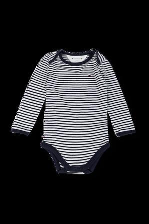 גילאי NB-16 חודשים שלישיית בגדי גוף ארוכים בגווני כחול ולבן TOMMY HILFIGER KIDS