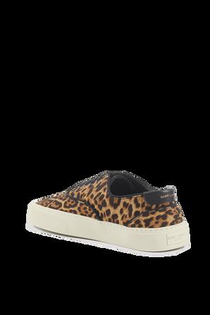 Venice Sneakers in Leopard Print Canvas SAINT LAURENT