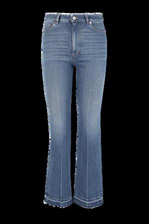מכנסי גי'נס בגזרה ישרה בשטיפה בינונית VALENTINO