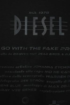 Just E7 T-Shirt in Black DIESEL