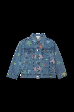 גילאי 2-14 ז`קט ג`ינס עם כוכבים צבעוניים STELLA McCARTNEY KIDS
