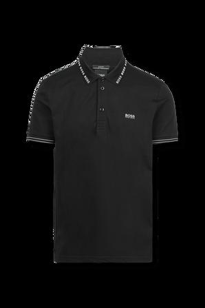 Paule Classic Polo Shirt in Black BOSS