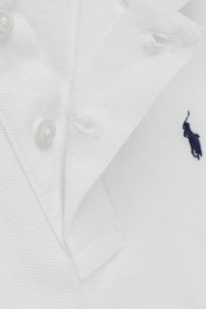 גילאי 2-4 חולצת פולו קלאסית בלבן עם רקמת לוגו POLO RALPH LAUREN KIDS