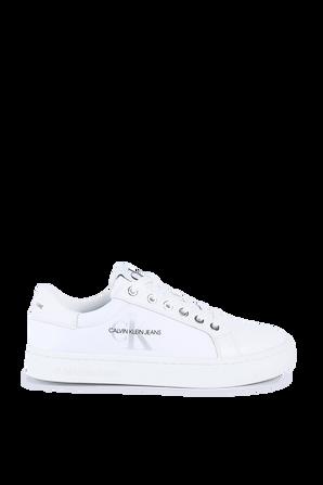 Classic Logo Sneakers in White CALVIN KLEIN