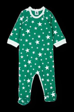 גילאי 1-24 חודשים אוברול שינה בהדפס כוכבים ירוק PETIT BATEAU
