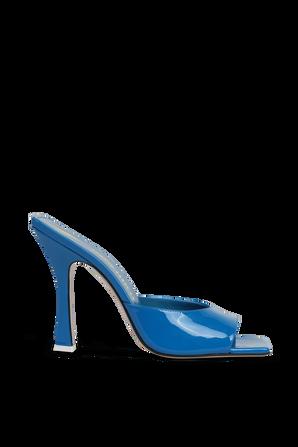 SUPERATTICO- נעלי עקב אנאיס בגוון כחול THE ATTICO