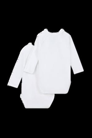 גילאי NB-12 חודשים מארז זוגי בגדי גוף ארוכים בלבן PETIT BATEAU