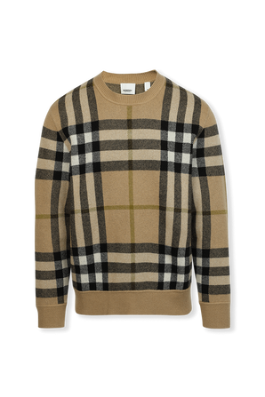 Check Cashmere Jacquard Sweater BURBERRY