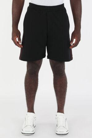 Side Branding Organic Jersey Shorts in Black ALEXANDER MCQUEEN
