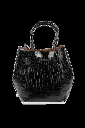 LG Open Tote Bag in Black POLO RALPH LAUREN