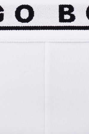 Triple Pack Boxer Briefs in White Stretch Cotton BOSS