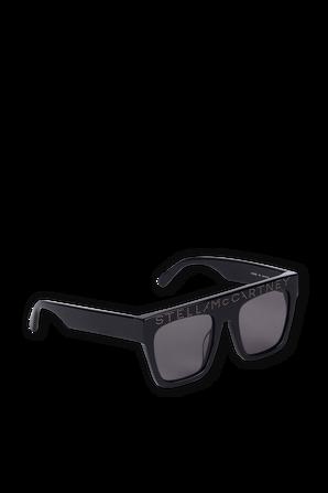 משקפי שמש לוגו מרובעות בשחור STELLA McCARTNEY KIDS