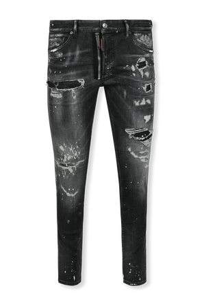 Black Ripped Wash D2 Skinny Twinky Jeans DSQUARED2