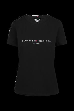 חולצת טי לוגו בצבע שחור TOMMY HILFIGER