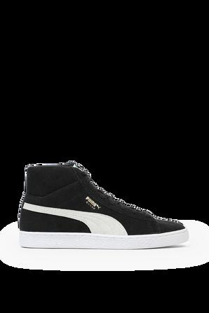 Suede High Top Sneakers in Black PUMA