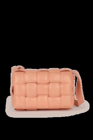 The Cassette Shoulder Bag in Peach BOTTEGA VENETA