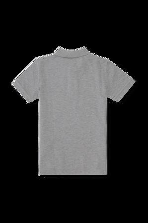גילאי 5-7 חולצת פולו קלאסית בגוון אפור POLO RALPH LAUREN KIDS