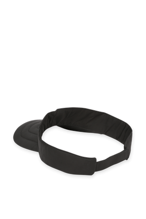 Logo Visor in Black MONCLER