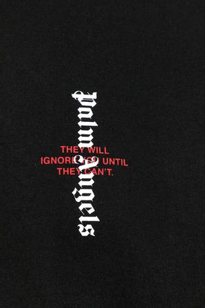 Statement Logo Tee in Black PALM ANGELS