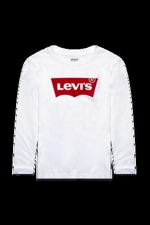 גילאי 12-24 חודשים חולצת באטווינג בלבן LEVI`S KIDS