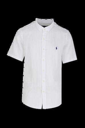 Slim Fit Linen Shirt in White POLO RALPH LAUREN